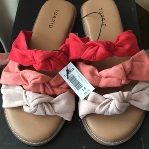 NWT Torrid Knotted Slide Sandals 7.5w 7.5